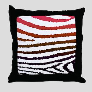 Artistic Jagged Zebra Print Throw Pillow
