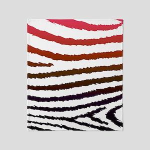 Artistic Jagged Zebra Print Throw Blanket
