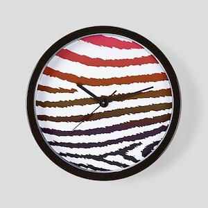 Artistic Jagged Zebra Print Wall Clock