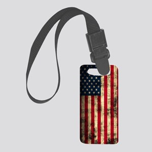 American Flag Distressed Small Luggage Tag