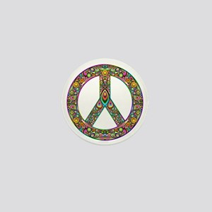 Peace Symbol Psychedelic Art Design Mini Button