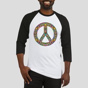 Peace Symbol Psychedelic Art Desig Baseball Jersey