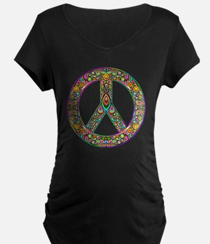 Peace Symbol Psychedelic Ar T-Shirt