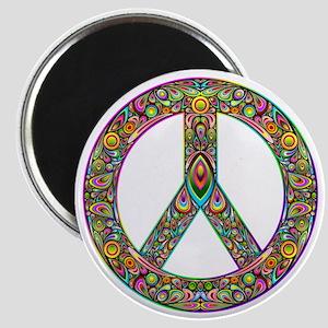 Peace Symbol Psychedelic Art Design Magnet
