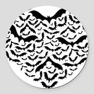 Bat heart Round Car Magnet