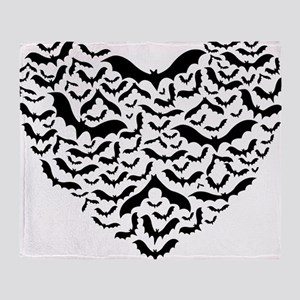 Bat heart Throw Blanket