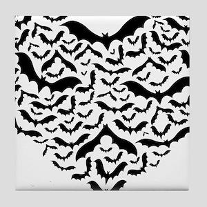 Bat heart Tile Coaster