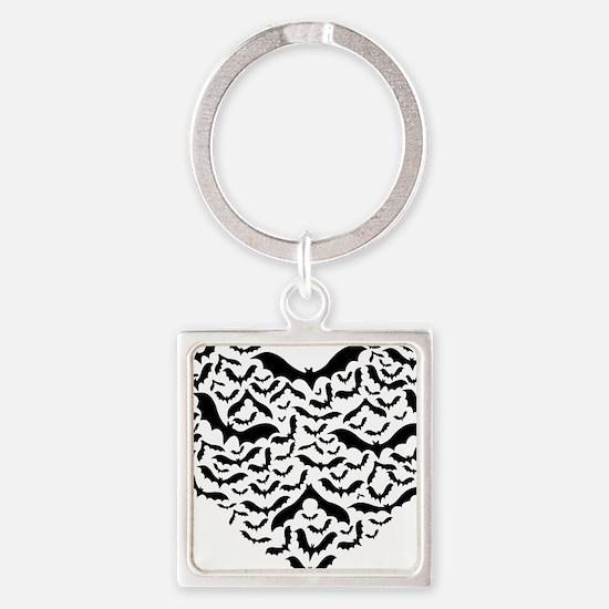 Bat heart Square Keychain