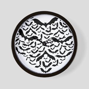 Bat heart Wall Clock