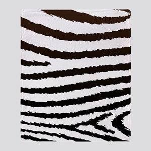 Creative Jagged Zebra Print Throw Blanket