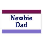Newbie Dad Rectangle Sticker