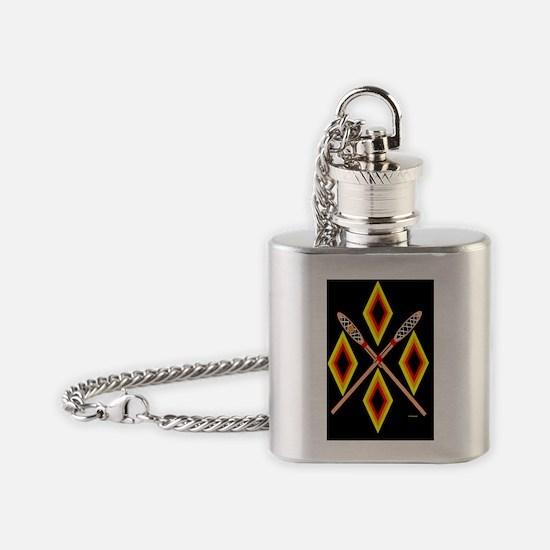 SOUTHEAST TRIBAL STICKBALL Flask Necklace
