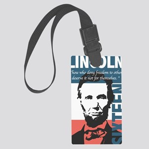 Abraham Lincoln 16th President Large Luggage Tag