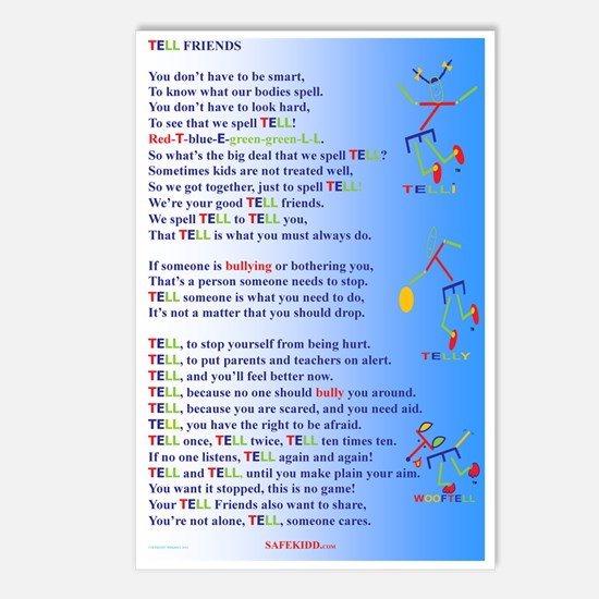 TELL FRIENDS bully versio Postcards (Package of 8)
