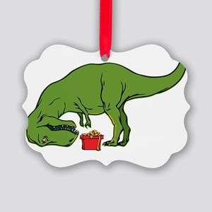 T-rex hates Christmas Picture Ornament