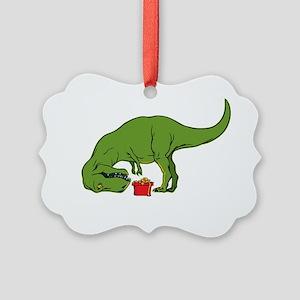 T-rex hates Christmas Picture Ornament