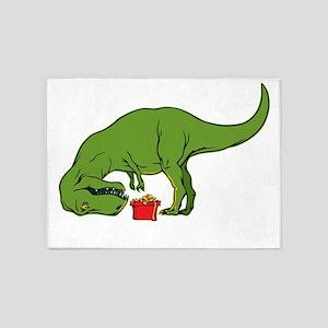T-rex hates Christmas 5'x7'Area Rug