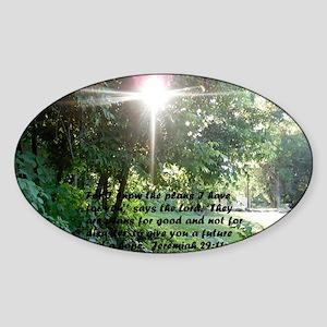 Sunbeam of Hope/Scripture XLG Sticker (Oval)