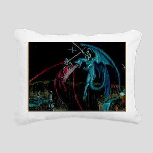 Dragons Airborne Large P Rectangular Canvas Pillow