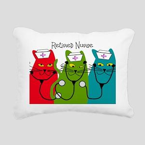 Retired Nurse Blanket CA Rectangular Canvas Pillow