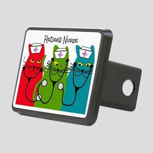 Retired Nurse Blanket CATS Rectangular Hitch Cover