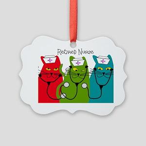 Retired Nurse Blanket CATS Picture Ornament
