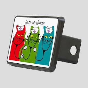 Retired Nurse Blanket CATS Rectangular Hitch Cover