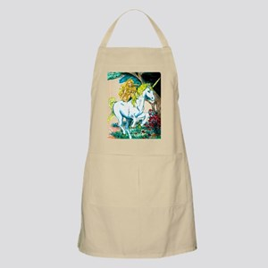 unicorn and maiden Large Print Apron