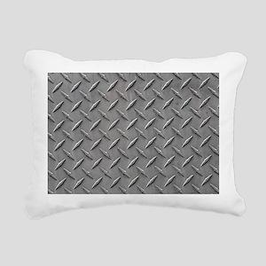 Diamond Plated Steel Rectangular Canvas Pillow