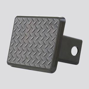 Diamond Plated Steel Rectangular Hitch Cover