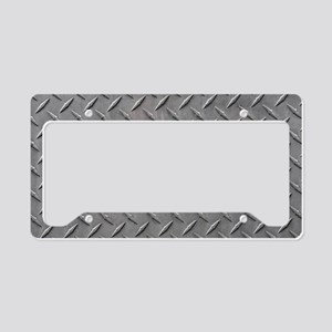 Diamond Plated Steel License Plate Holder