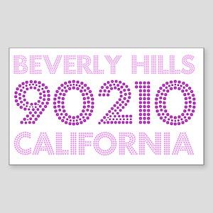 Beverly Hills 90210 California Sticker (Rectangle)