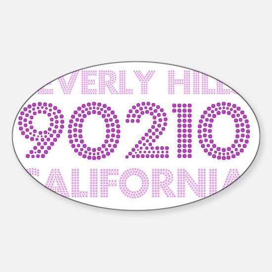 Beverly Hills 90210 California Jewe Sticker (Oval)