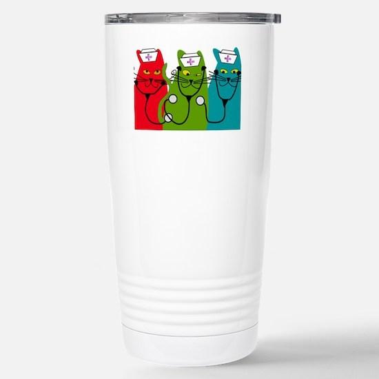 black cats NURSE BEST Stainless Steel Travel Mug
