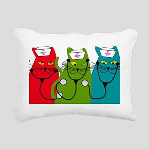 black cats NURSE BEST Rectangular Canvas Pillow