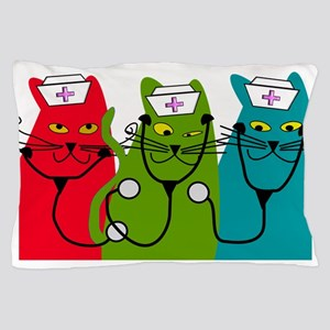 black cats NURSE BEST Pillow Case