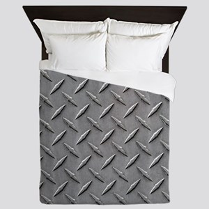 Diamond Plated Steel Queen Duvet