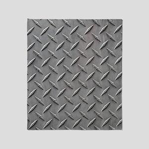 Diamond Plated Steel Throw Blanket
