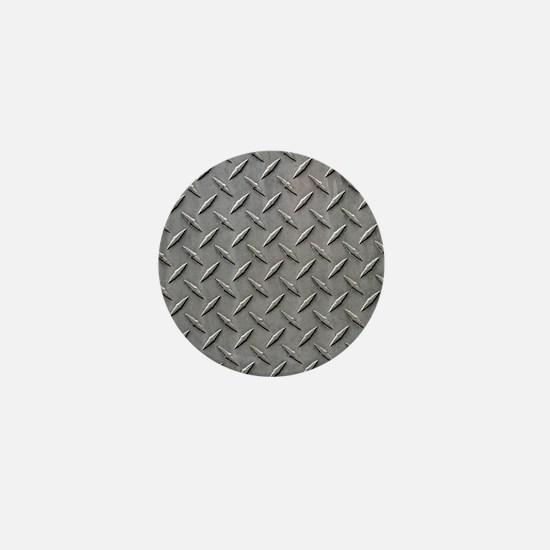 Diamond Plated Steel Mini Button