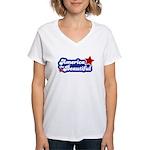 America Beautiful Women's V-Neck T-Shirt