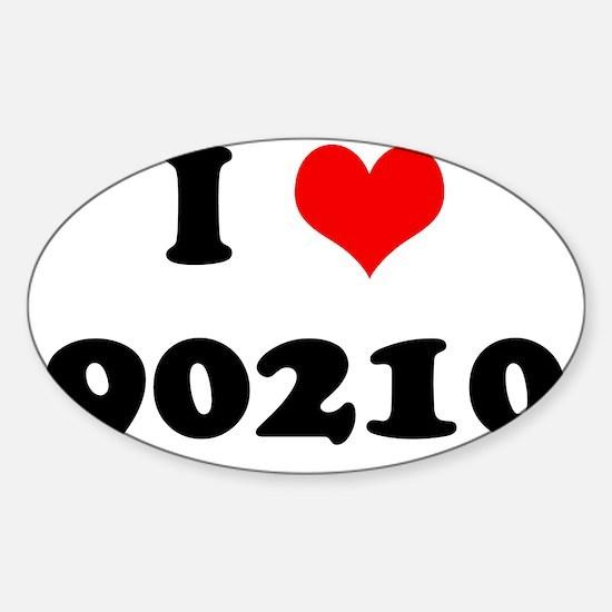 I Heart 90210 Sticker (Oval)