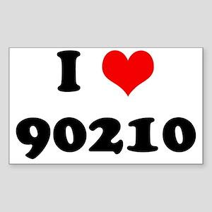 I Heart 90210 Sticker (Rectangle)