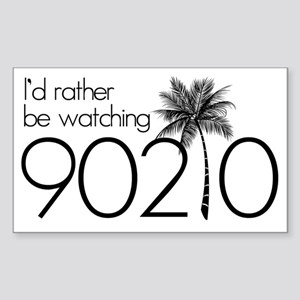 Id rather be watching 90210 Sticker (Rectangle)