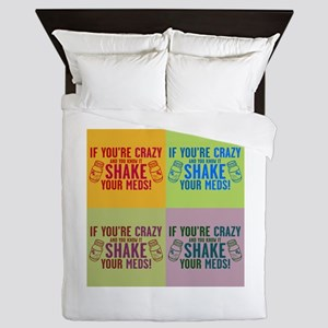 Crazy and know it humor Queen Duvet