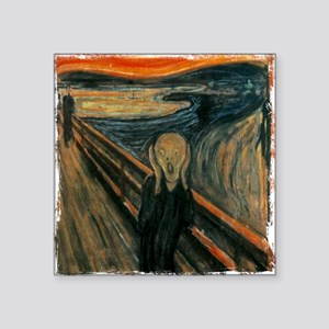 "The Scream Square Sticker 3"" x 3"""