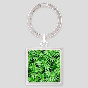 Marijuana Square Keychain