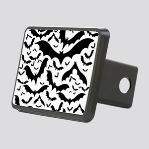 black and white bats Rectangular Hitch Cover