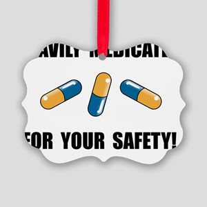 Heavily Medicated Picture Ornament