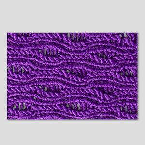 Purple Yarn Postcards (Package of 8)
