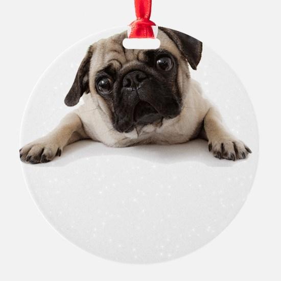 Pugs Not Drugs Ornament
